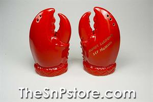 Commemorative Lobster Claws Salt  & Pepper Shakers