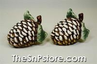 Pinecone Salt & Pepper Shakers