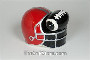 Football and Helmet Salt & Pepper
