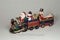 Christmas Train set with box - magnetic - 3 pc with Sugar Packet Holder Salt & Pepper Shakers
