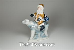 Santa with Polar Bear - magnetic Salt & Pepper Shakers - Magnetic