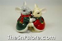 Christmas Mice Salt & Pepper Shakers