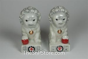 Chinese Stone Lion Salt & Pepper