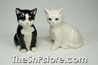 Black-White Cat  Salt & Pepper Shakers
