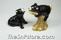 Black Bears Salt & Pepper Shakers