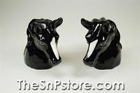 Black Horse Heads Salt & Pepper Shakers