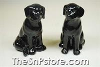 Black Lab Salt & Pepper Shakers