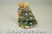 Christmas Tree Bear Salt  & Pepper Shakers