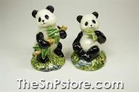 Pandas Salt and Pepper Shakers