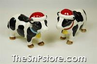 Christmas Cows Salt & Pepper Shakers