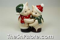 Christmas Pigs Salt and Pepper