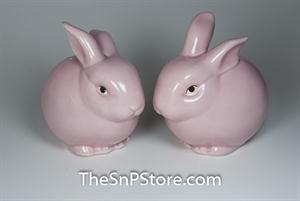 Pink Bunny Salt & Pepper