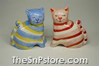 Striped Cats Salt & Pepper Shakers