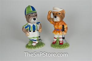 Golf Dog  Salt and Pepper Shakers