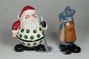 Golf Santa S & P Salt & Pepper Shakers