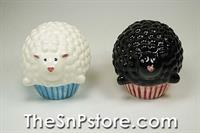 Cupcake Sheep Salt & Pepper Shakers