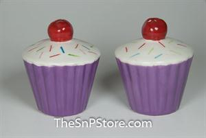 Purple Cupcake w/Cherry Salt & Pepper