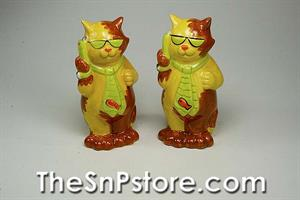 Cat - You're Never Too Busy To Listen Salt & Pepper Shakers