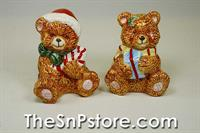 Christmas Teddy Bear  Salt  & Pepper Shakers