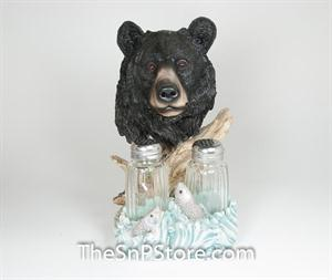 Black Bear Head Salt & Pepper Shakers