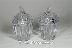 Acorn Crystal Salt & Pepper Shakers