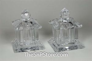 Pagoda Crystal Salt & Pepper Shakers
