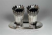 Asparagus - Silverplated Salt & Pepper Shakers