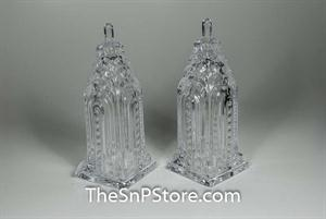 Hi Rise Crystal Salt & Pepper Shakers