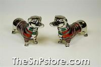 Dachshund Silverplated Salt & Pepper Shakers