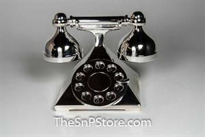 Telephone Silverplated Salt & Pepper Shakers