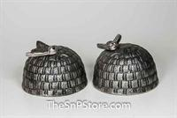 Beehive - Nickel-Plated Salt & Pepper Shakers