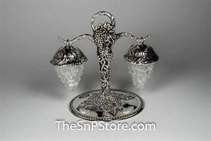 Hanging Grapes - Silverplated Salt & Pepper Shakers