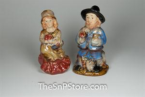 Pilgrims Salt and Pepper Shakers