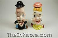 Cartoon Mr & Mrs Salt & Pepper Set