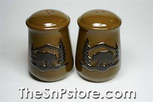 Bear embossed Salt & Pepper Shakers