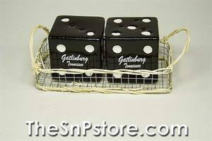 Black Dice Gatlinburg with Basket Salt & Pepper Shakers