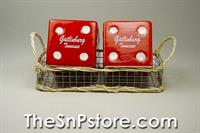 Red Dice Gatlinburg with Basket Salt & Pepper Shakers