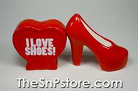 I Love Shoes Salt & Pepper Shakers