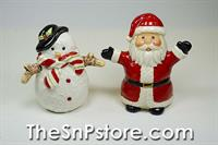 Santa & Snowman Salt & Pepper Shakers