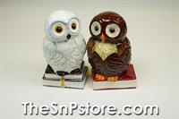 Book Owls Salt  & Pepper Shakers