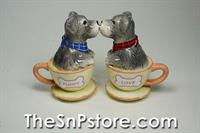 Schnauzer In Cup Salt  & Pepper Shakers