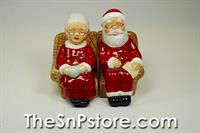 Mr and Mrs Claus on Armchair Salt  & Pepper Shakers