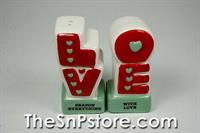 LOVE Salt & Pepper Shakers