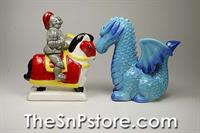 Knight and Dragon Salt & Pepper Shakers