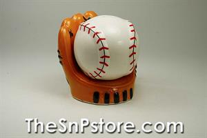Baseball glove and ball Salt & Pepper Shakers