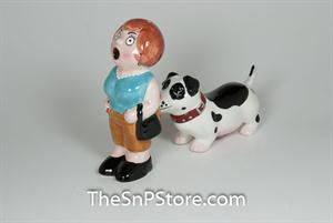 A Lady and The Tramp Salt & Pepper Shakers