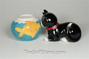 Cat and Fish Salt & Pepper Shakers - Magnetic