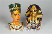 King Tut and Queen Nefertiti Salt & Pepper Shakers