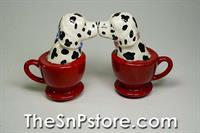 Tea Cup Dalmatians Salt & Pepper Shakers