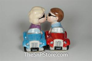 His and Hers Cars Salt & Pepper Shakers - Magnetic